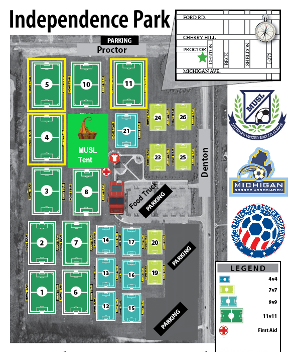 2021 Venue is Independence Park in Canton, Michigan!
